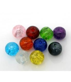 Pack 25 cuentas de cristal mix 6mm