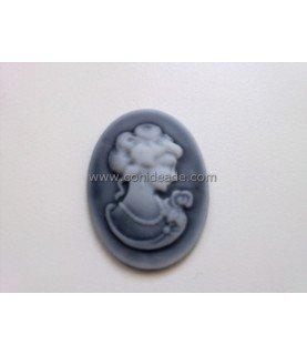 Comprar Cabuchon de resina busto 40x30mm gris