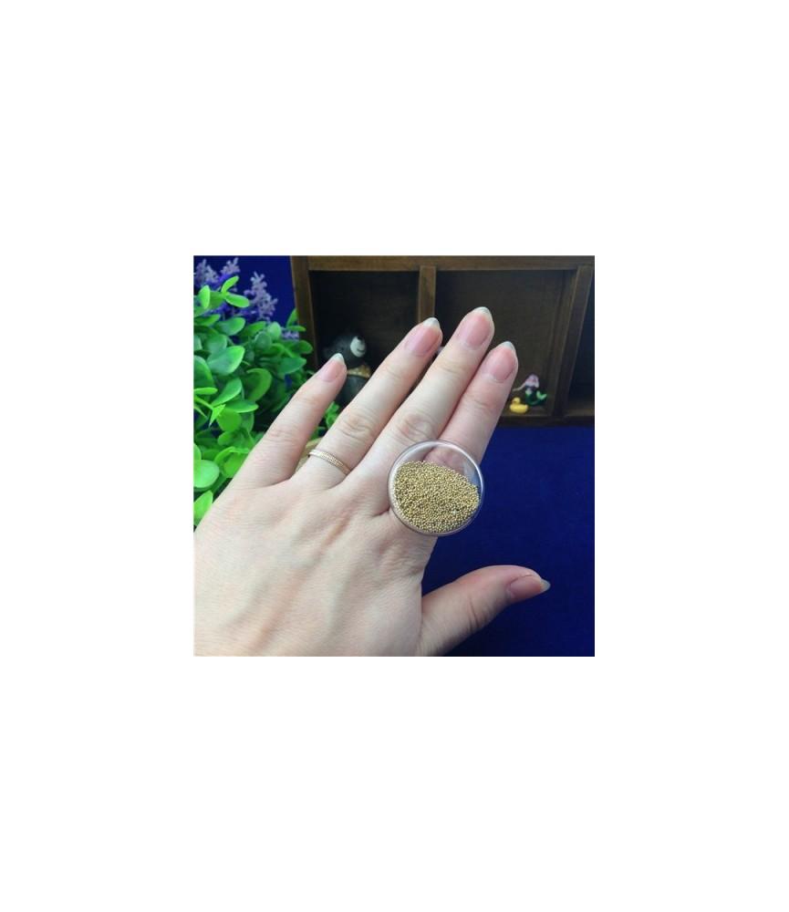 Set anillo con cristal plano de 25 mm