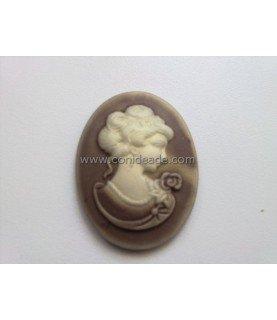 Comprar Cabuchon de resina busto 40x30mm beige de Conideade