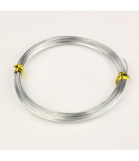 Alambre de aluminio plateado 1mm