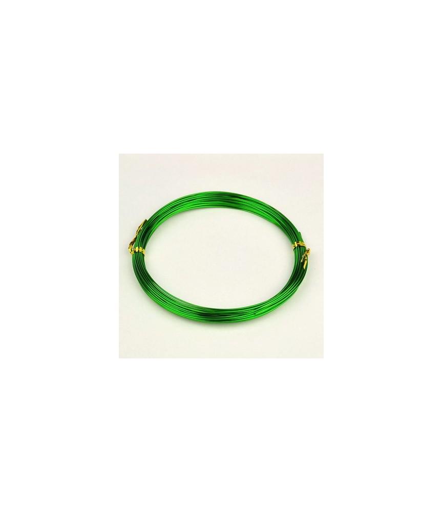 Alambre de aluminio verde 1mm