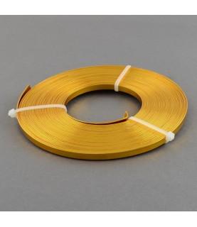 Alambre plano de 5 mm dorado
