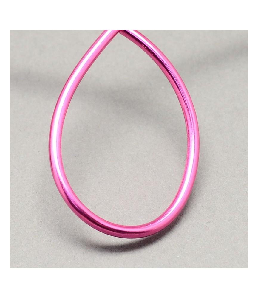 Alambre de aluminio 1.5mm rosa