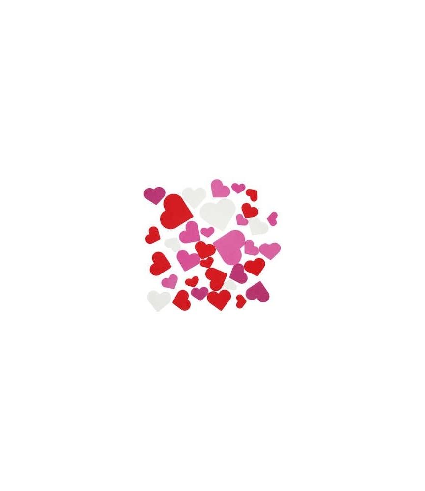 Pack 200 corazones de goma eva adhesivos