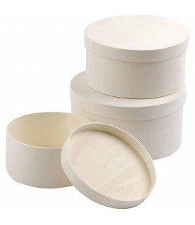 Comprar Pack 3 cajas de contrachapado redondas de Conideade