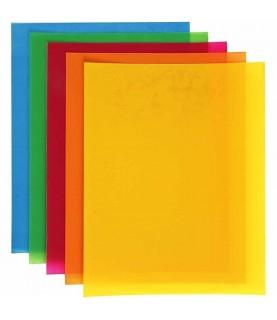 Lámina de plástico mágico colores