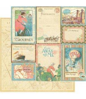 Comprar Papel scrap Vintage voyage 30x30 de Conideade