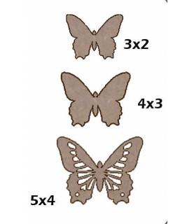 Comprar Set de 3 mariposas de cartón de Conideade