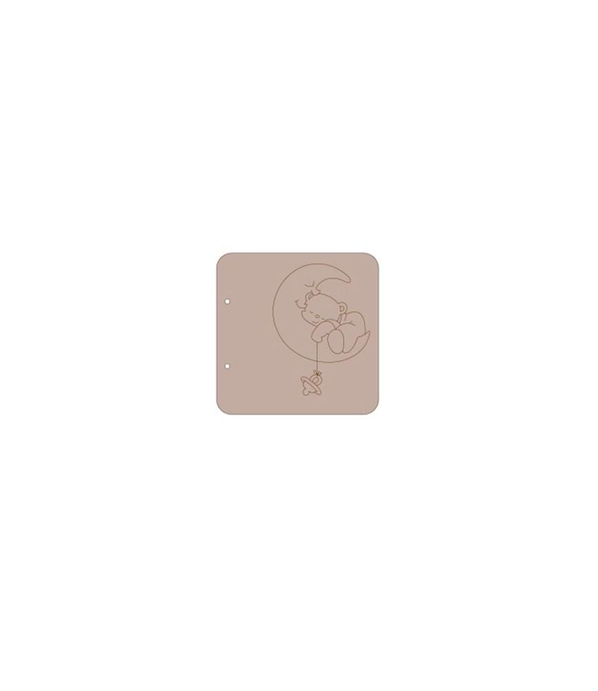 Album cartón oso luna 18x18