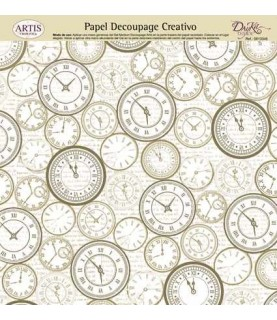 Papel decorativo para pegar mod reloj