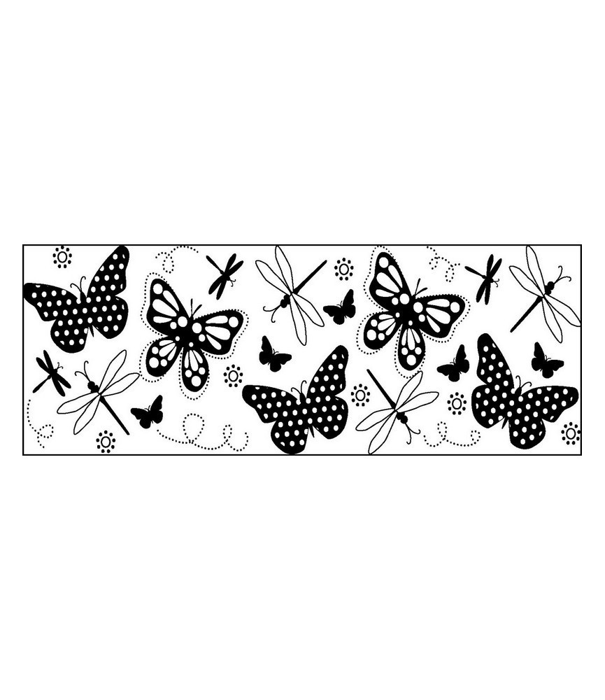 Tampon continuo mariposas
