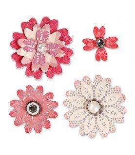 Comprar Troquel Sizzix Bigz Flor con petalos de corazon de Conideade