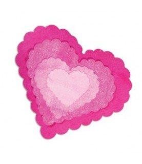 Comprar Troquel Sizzix Framelits corazones festoneados de Conideade