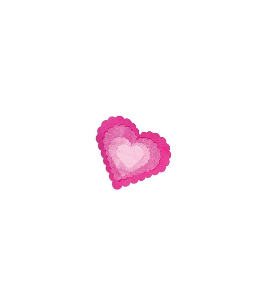 Troquel Sizzix Framelits corazones festoneados