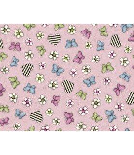 Comprar Tela Gorjuss mariposas rosa de Conideade