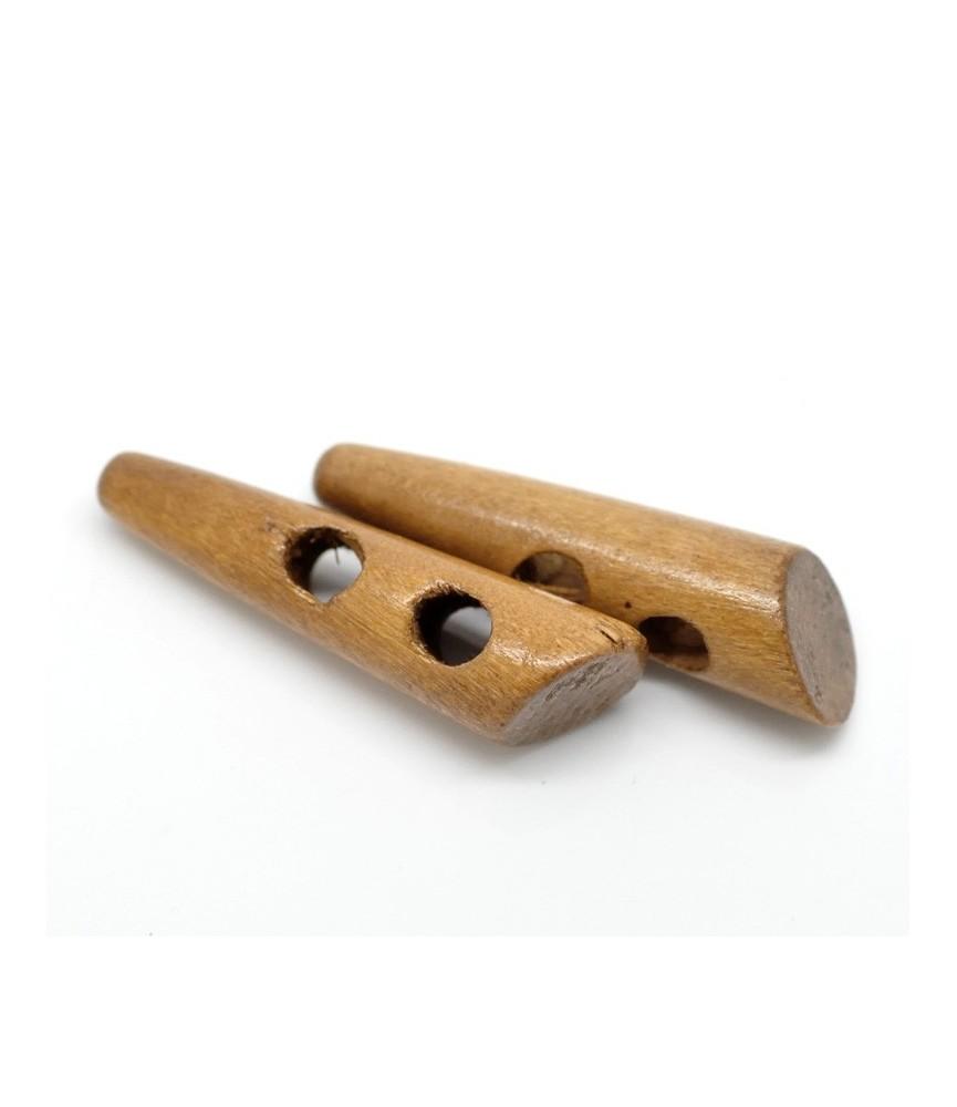 Botones de madera pico color natural
