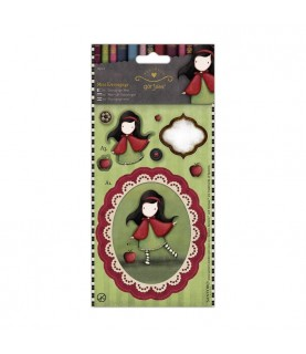 Pack mini decoupage gorjuss -Little red