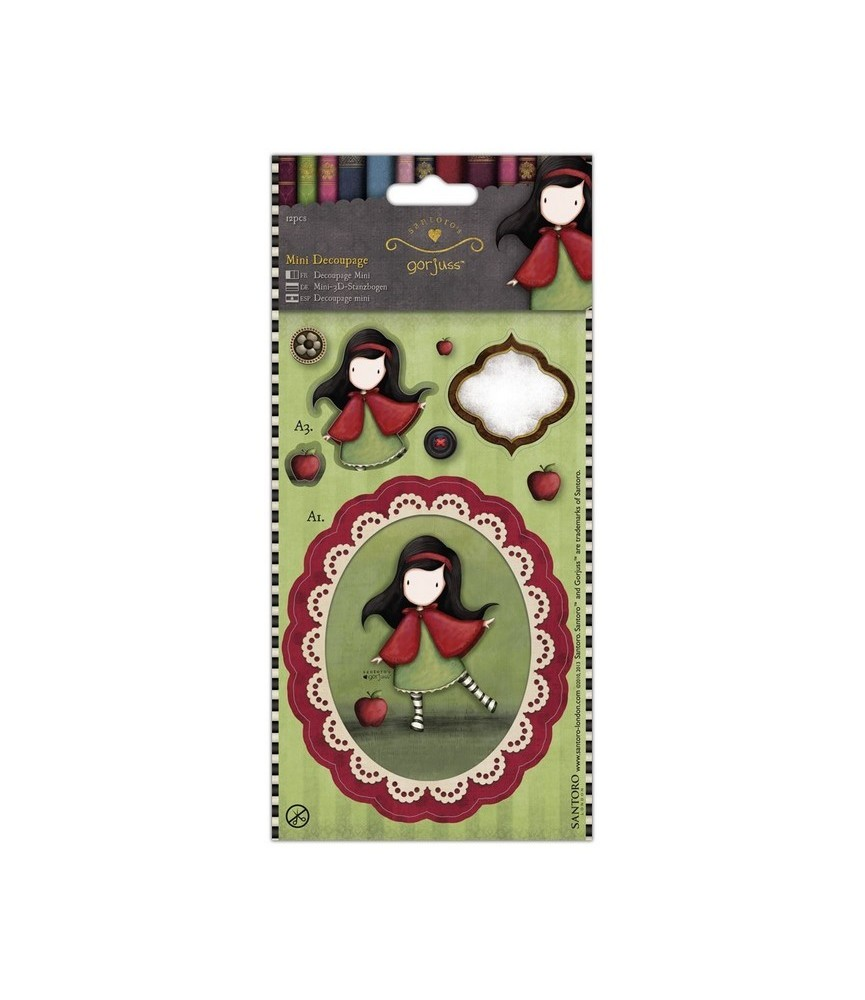 Pack mini decoupage gorjuss -Little red