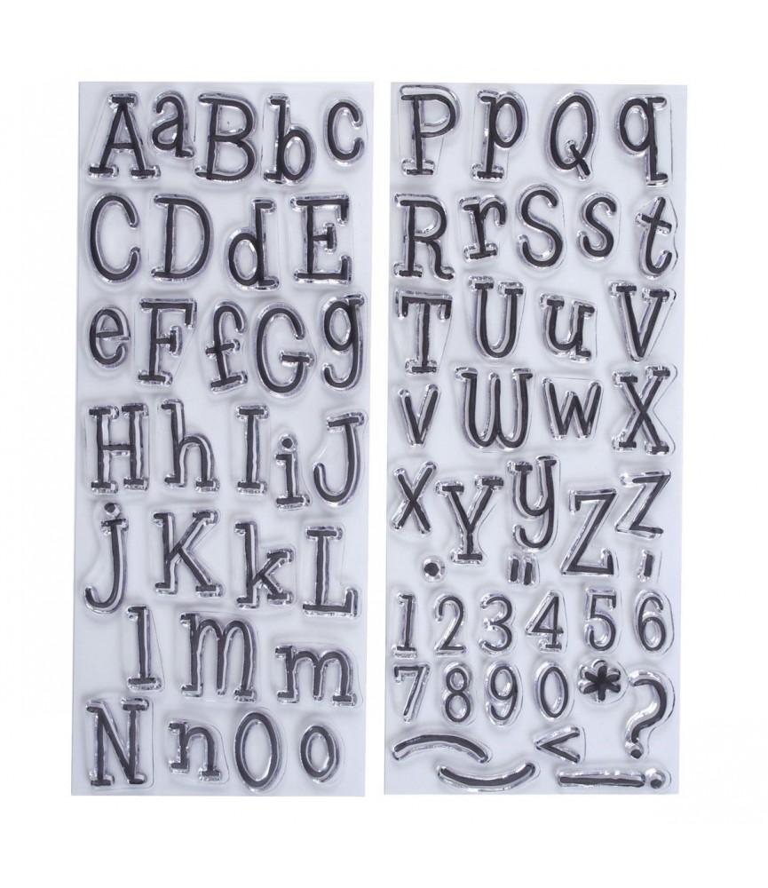 Sellos transparentes abecedario