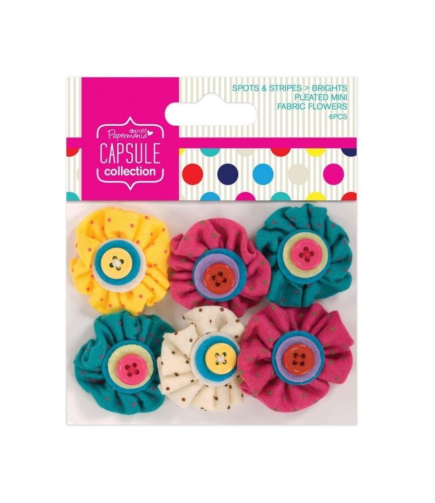 Pack 6 Flores de tela Modelo Brights