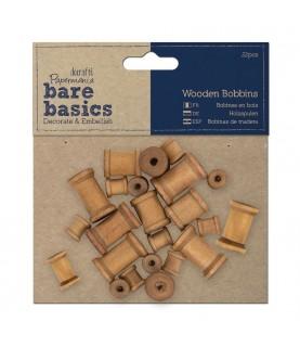 Pack 22 bobinas de madera para decorar