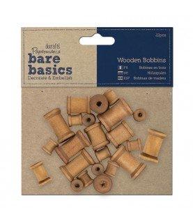 Comprar Pack 22 bobinas de madera para decorar de Conideade