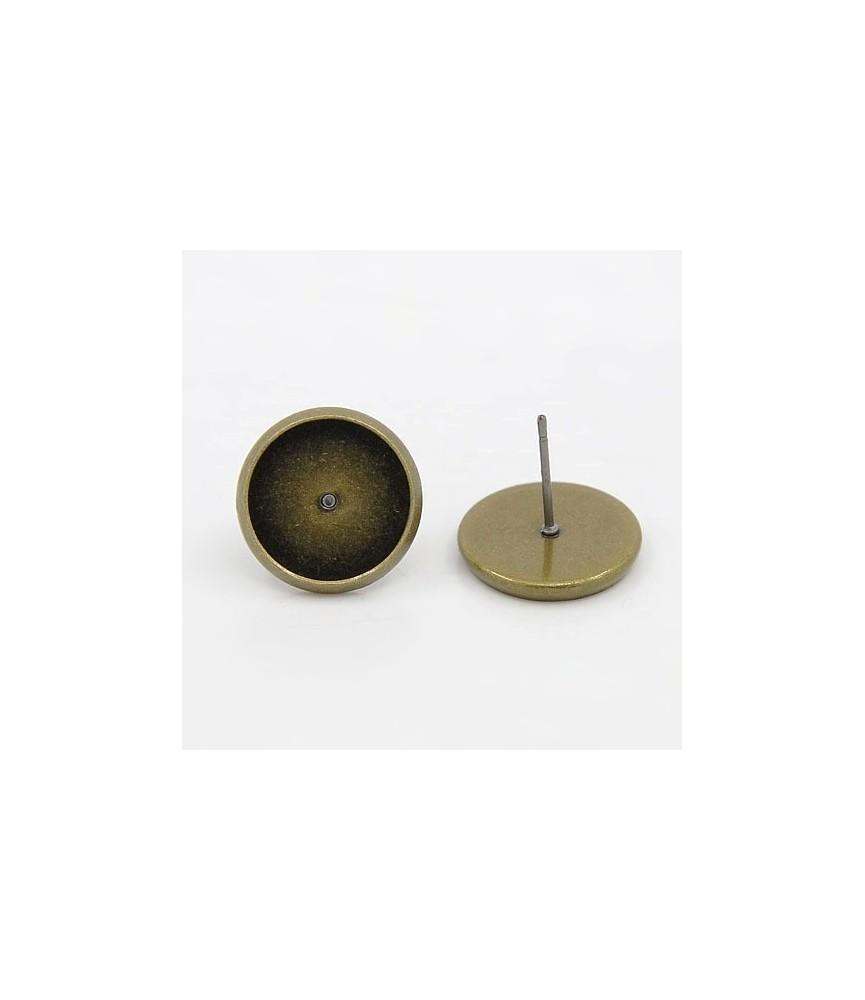 5 par de pendientes bronce de 10 mm