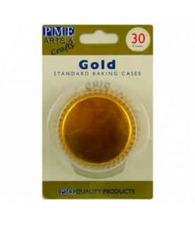 30 capsulas para magdalenas doradas