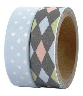 Comprar Pack 2 rollos de washi tape rombos y topos de Conideade
