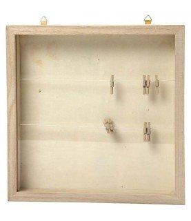 Comprar Marco de madera 3D pinzas de Conideade