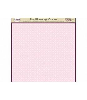 Imagén: Papel decorativo para pegar basic rosa