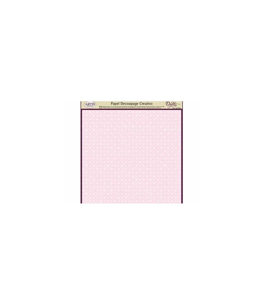 Papel decorativo para pegar basic rosa