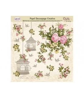 Papel decorativo para pegar rosas