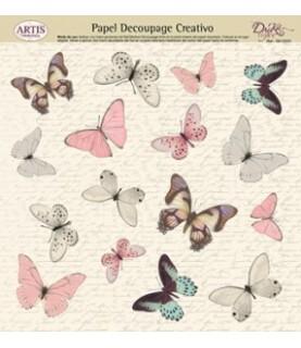 Imagén: Papel decorativo para pegar butterfly