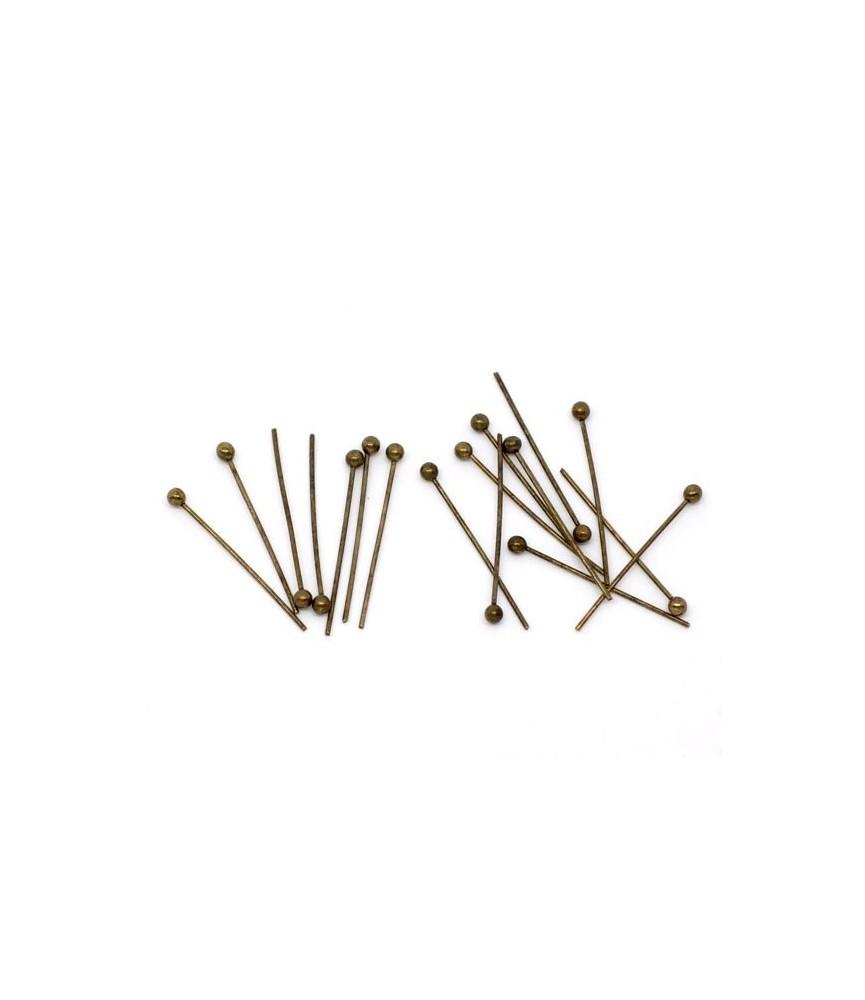 Pack de 25 bastones bronce cabeza bola