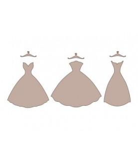 Conjunto 3 vestidos con percha
