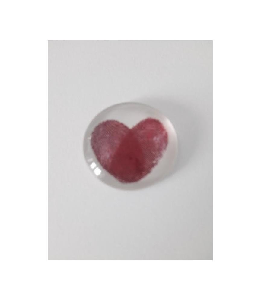 Cabuchon de cristal corazon 25mm