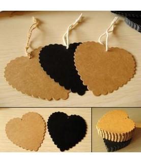 Set de 10 Etiquetas corazon craf
