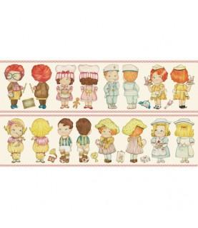 Comprar Tela pach muñeca de papel oficios grandes 30 x 1,10 cm de Conideade