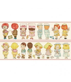 Imagén: Tela pach muñeca de papel oficios grandes 30 x 1,10 cm