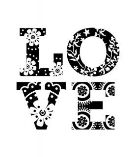 Sello acrilico LOVE