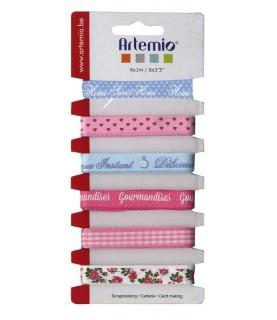 Pack 6 cintas estampadas modelo Sweet flores