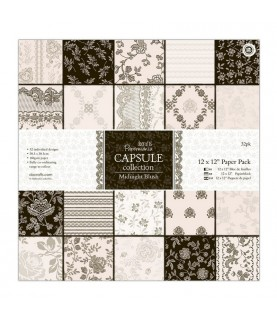 32 hojas scrap Campsule-Midnight Blush 12x12