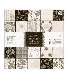 32 hojas scrap Campsule-Midnight Blush 6x6