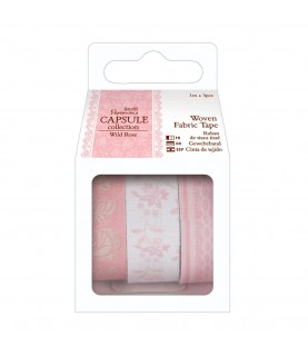 Pack 3 Fabric Tape mod Wild Rose