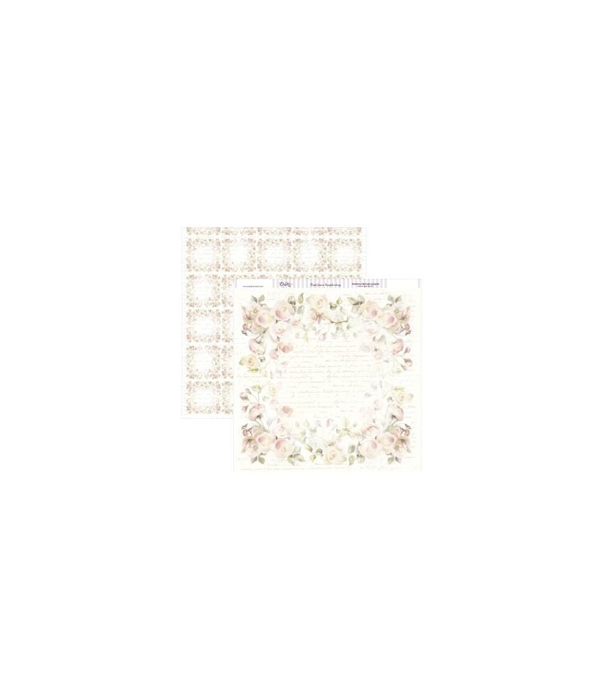 Papel scrap 30,5 x 30,5 cm rosas