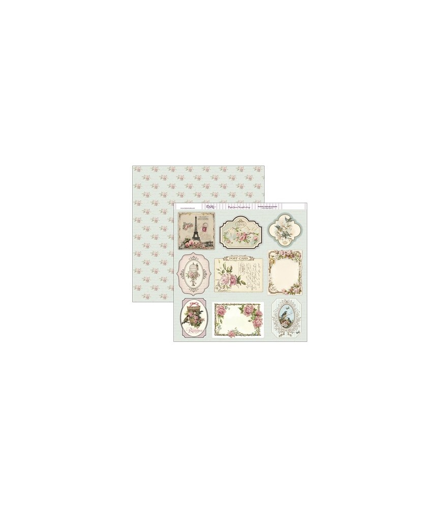 Papel scrap 30,5 x30,5 tarjetas vintage