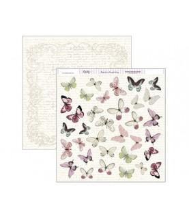 Comprar Papel scrap 30,5 x30,5 mariposas rosas de Conideade