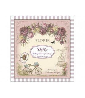 Comprar Libro scrap flores 24 hojas 8x8 de Conideade